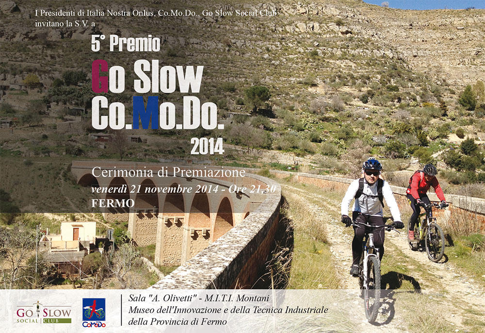 Premio Go Slow - Co.Mo.Do. 2014